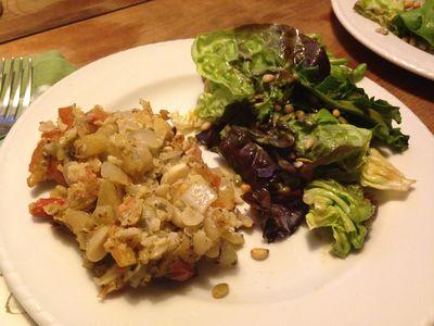 Loaf and salad