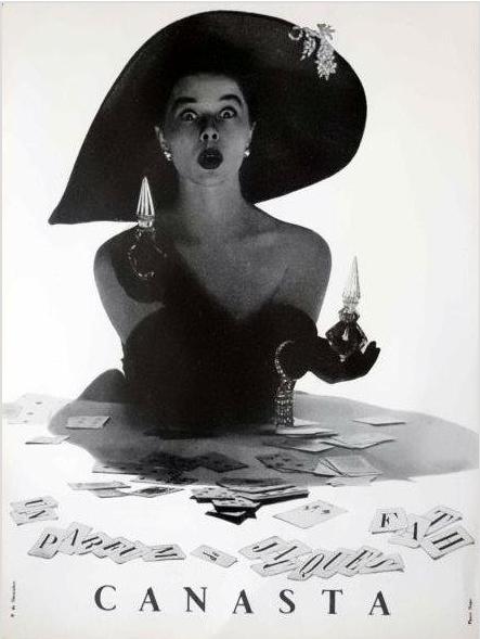 Fath canasta 1958 vintage perfume ad