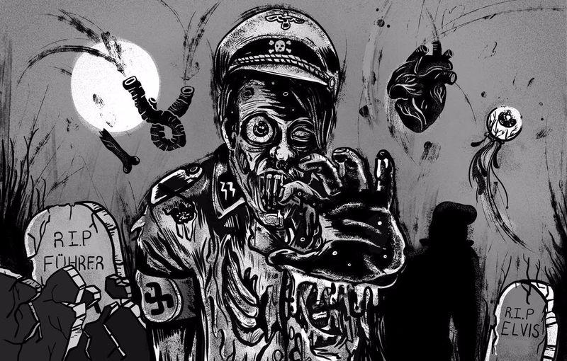 Zombie Hitler by Jade Klara
