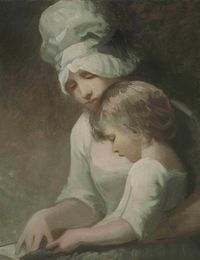 George_Romney_Child_Reading_(possibly_Mrs_Cumberland_and_her_son)